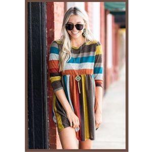 Dresses & Skirts - Soft Mustard and Mocha Dress/ Tunic